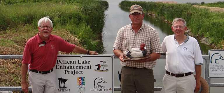 Fred Bengtson, center, is the 2016 Minnesota Conservation Partner Award winner.