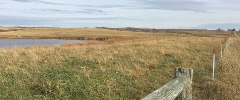 A Devils Lake area rancher converted this CRP land to a grazing system, using the Enbridge Ecofootprint Program.