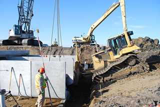 Ducks Unlimited engineering staff completed a new structure in north-central North Dakota to replace eroded dams.