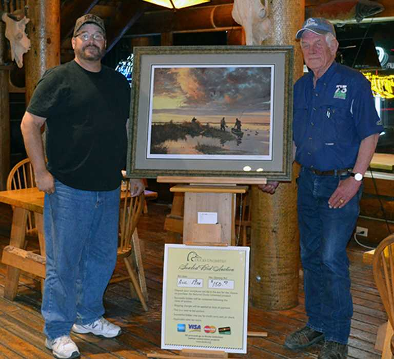 Jim Daugherty (right) and Dan Lerum,  the owner Bushwakers Steakhouse and Saloon in Lincoln, which hosts one of Jim