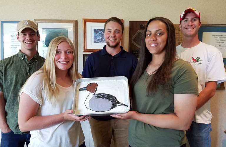 The Nestcam interns at a DU luncheon