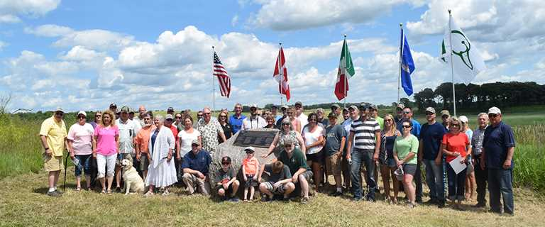 Ducks Unlimited partners and supporters gathered July 8 at Anderson Waterfowl Production Area.