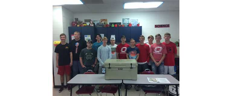 The first meeting of the Ozark Tigers Varsity Chapter at Ozark High School.