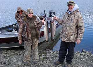 Ernie and Renee Lundberg on a recent fishing trip.