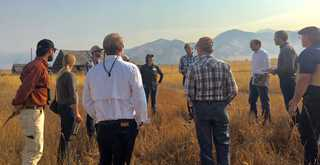 Montana congressional staff toured conservation sites to learn more about farm bill conservation programs.