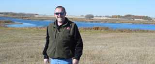 Keith Futrell at the Arkansas Legacy Greenwing project in Canada.