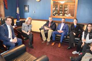 Left to right: Michael Findlay Ducks Unlimited, Rep. Lynn Jenkins (R-KS-02), Matt Hough, Andy Hineman, Alicia Allen, LizMar Barragen