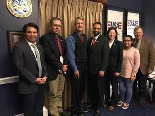 Michael Findlay, Matt Hough, Rep. Roger Marshall (R-KS-01), Andy Hineman, Alicia Allen, LizMar Barragen and Mark Smith.