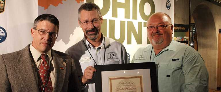 Bill Ebert, right, is the 2018 Ohio Outdoor News Person of the Year.