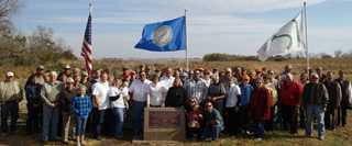 South Dakota volunteers gathered to dedicate the Henning-Berg Game Production Area