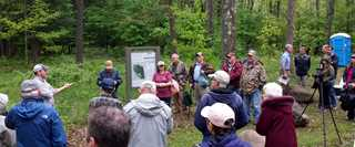 Participants tour the watershed May 19