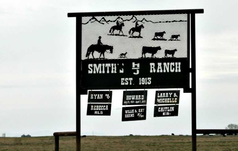 Entrance to the Smith family ranch, Phillips County, Montana.