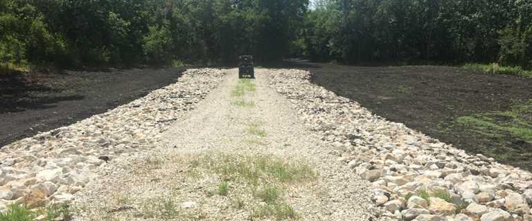 New spillway at Richland Creek WMA.
