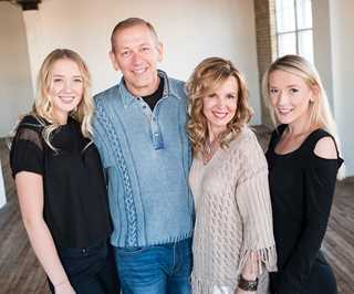 The Larson Family: (left to right) Annika, Craig, Shelley, and Paige
