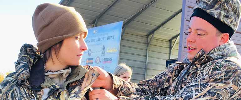 Doug and Jennifer Hawkins joined other U.S. military veterans celebrating Veterans Day 2018 at Ridgefield NWR.