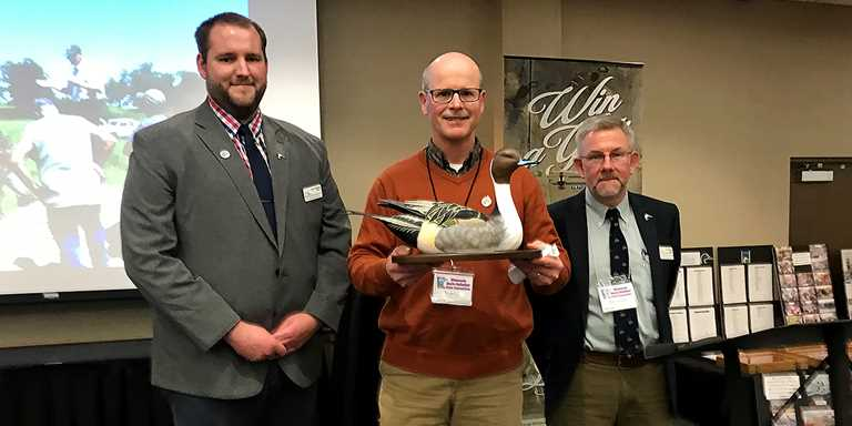 Center: Scott Glup, Litchfield Wetland Management District project leader for the U.S. Fish and Wildlife Service.
