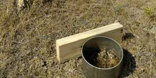 Water infiltration test to show soil health