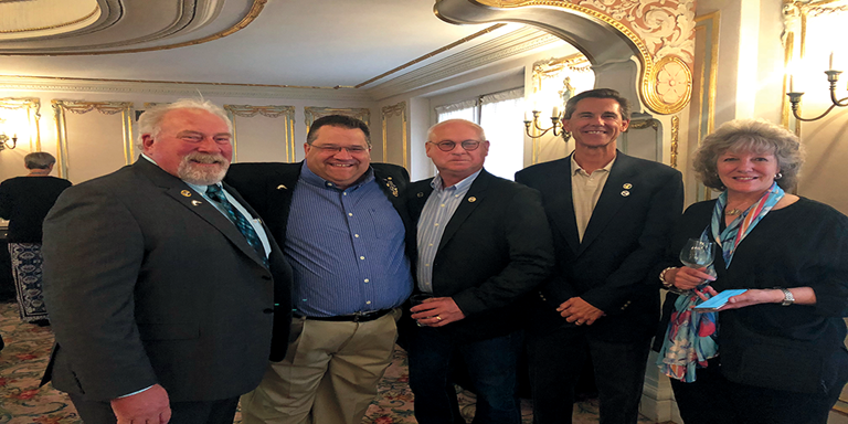 Dr. Chris Dorow (second from left) was honored in September at a special tribute event in Spokane, Washington.