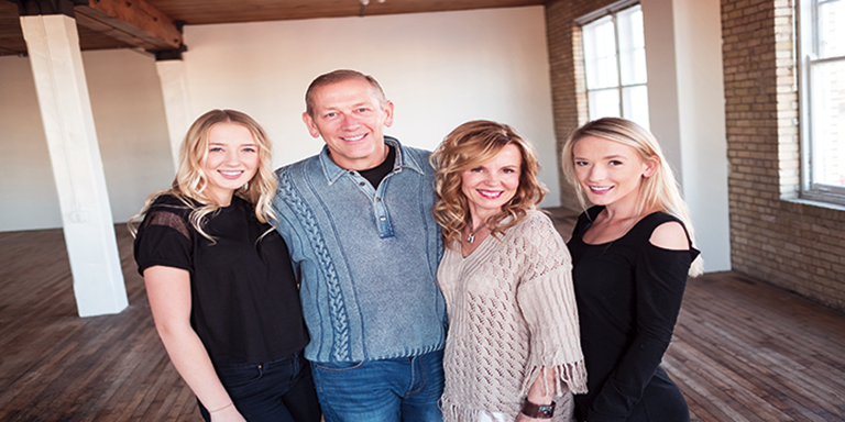 Craig and Shelley Larson, pictured with their daughters, Annika (left) and Paige (right)