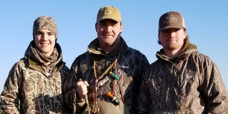 Shane and his sons enjoy hunting together.