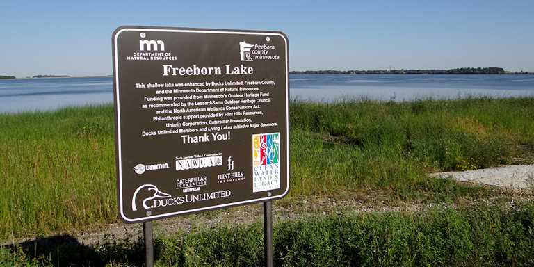 Flint Hills supported the 2,200-acre enhancement of Freeborn Lake in Minnesota.