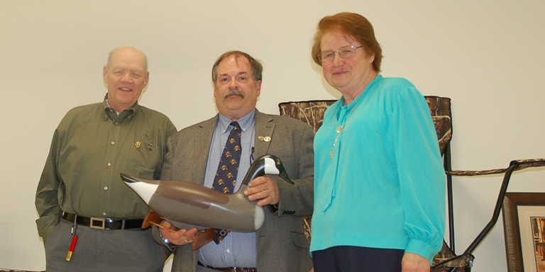 New York DU State Chair Joe Nicosia (center) honored Peter and JoAnne Jackson as the New York DU Conservationists of the Year in 2013.