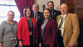 Paulette Schlegel, GPR Director of Public Policy Carmen Miller, Dave Paul, Representative Sherrice Davids, Mike Bulk, and Mark Schlegel.