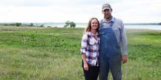 North Dakota farmers/ranchers Dustin and Barbara Roise are improving their operation with help from DU