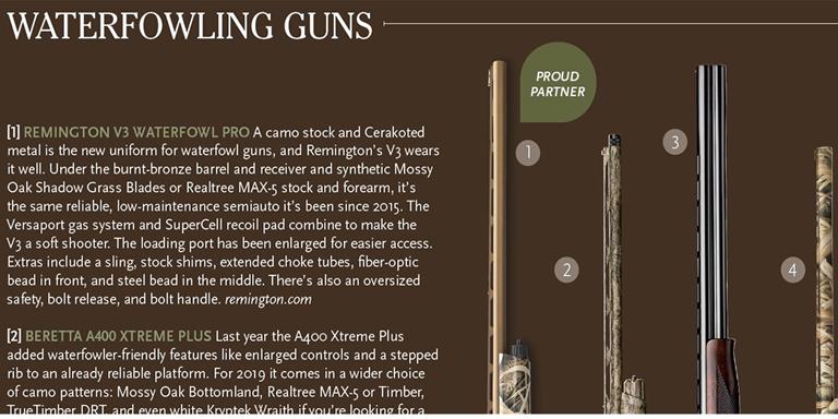 2019 New Guns & Gear: Waterfowling Guns