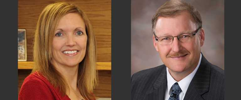 Dr. Karen Waldrop and Dr. Steve Adair
