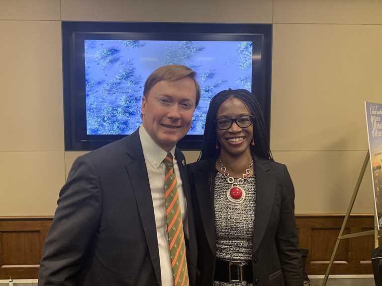 DU CEO Adam Putnam with USFWS Director Aurelia Skipwith