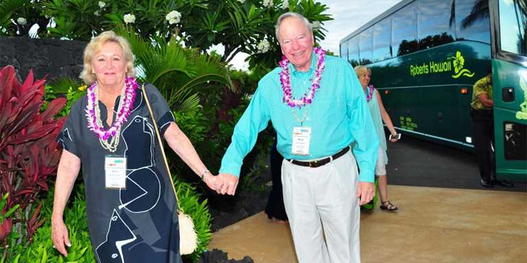 Gerry and Bruce Lauritzen in Hawaii this past May for the 82nd Annual DU National Convention.