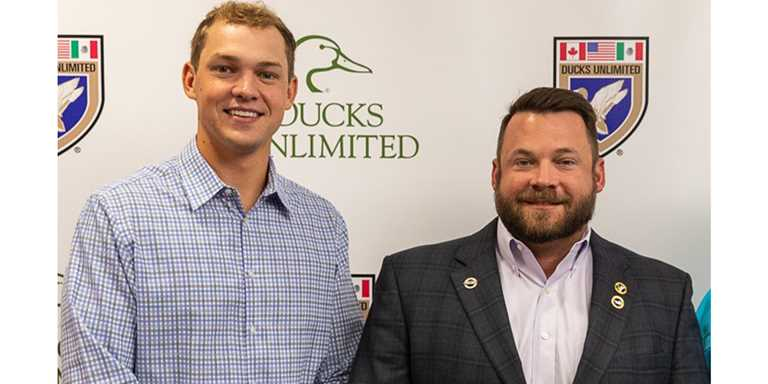 (From left) DU Regional Director Dillon Schroeder and Director of Development Matt Bunn were selected as DU's 2018–19 Directors of the Year.