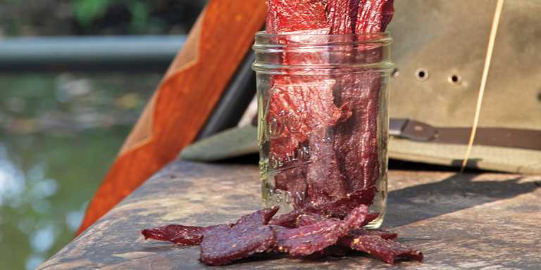 A combination of sweet, salty, and spicy flavors make this waterfowl jerky the perfect duck-blind snack.