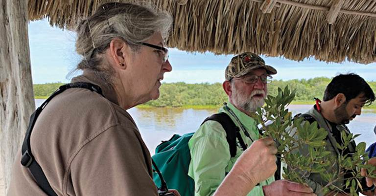 Fred and Nora Taylor participated in a field day at the 2020 Mangrove Experience in Mexico.
