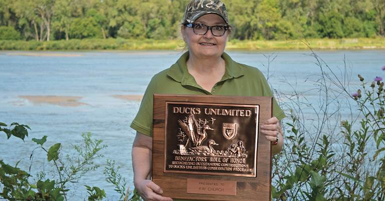 Kay's generous contributions to DU's conservation work have been recognized in a unique display at the Coteau Ranch in North Dakota.