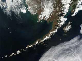 The Aleutian Islands, off the coast of Alaska