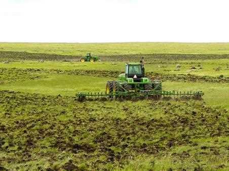 New sod-breaking, Hyde County, South Dakota, 2005