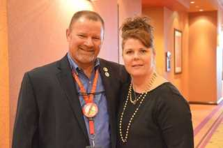 Mike and Theresa Hruby at the 2015 Texas DU State Convention.