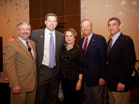 DU CEO Dale Hall (left), event co-chair Stephen Babcock, Susan and Richard Lipsey, and Louisiana Lt. Gov. Jay Dardenne at the incredibly suc