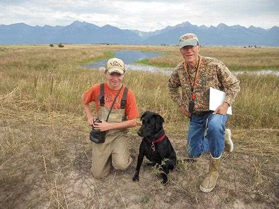 Diamond Life Sponsor Lloyd Straits (right) and his nephew Cahill on Ninepipe National Wildlife Refuge in western Montana.