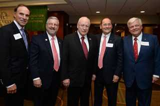 Pictured left to right: Bob Spoerl, Dale Hall, Vice President Dick Cheney, John Tomke and Richard Zuschlag.
