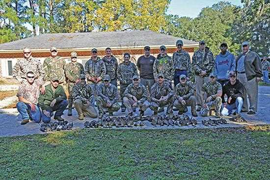 This past November, servicemen and women stationed at Marine Corps Air Station Beaufort were hosted by local landowners and Ducks Unlimited