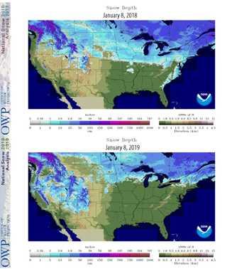 2017-18 Snow Chart Comparison